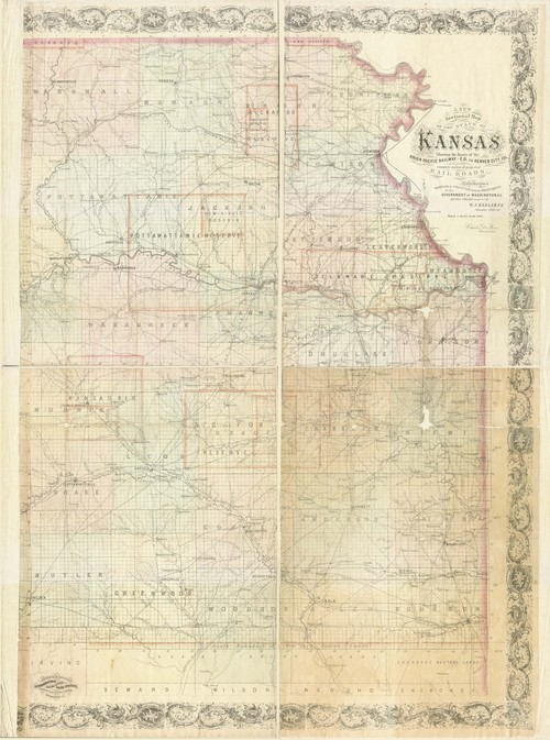 Railroad line map of the State of Kansas - Page
