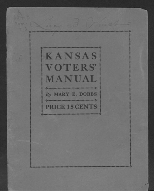 Kansas Voters' Manual - Page
