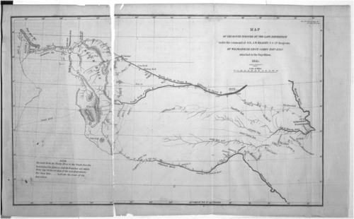 Map of the route pursued by the late expedition under the command of Col. Stephen Watts Kearny - Page