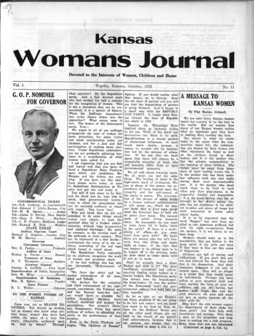 Kansas Womans Journal, October, 1922 - Page