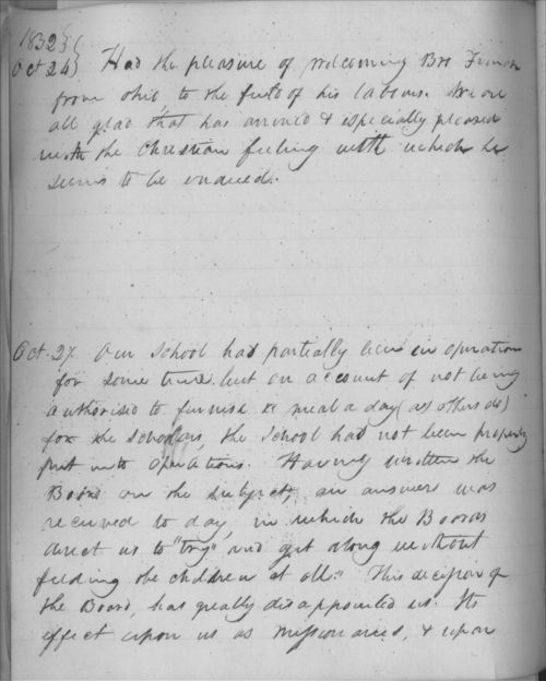 Johnston Lykins journal entry, October 27, 1832 - Page