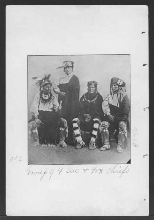 Group of four Sac and Fox chiefs - Page