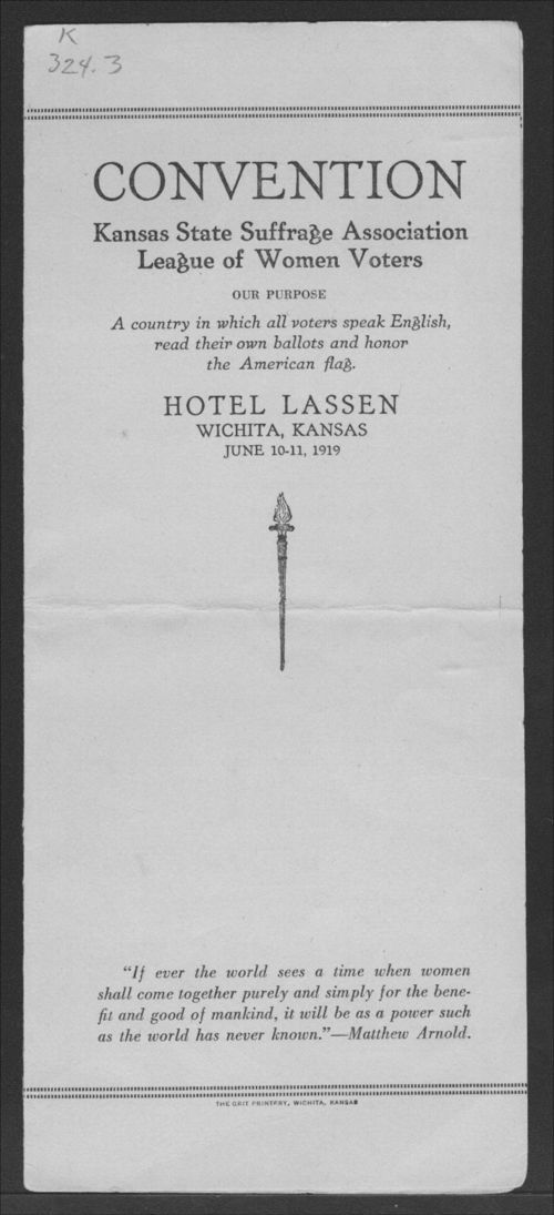 Convention of the Kansas State Suffrage Association/League of Women Voters - Page