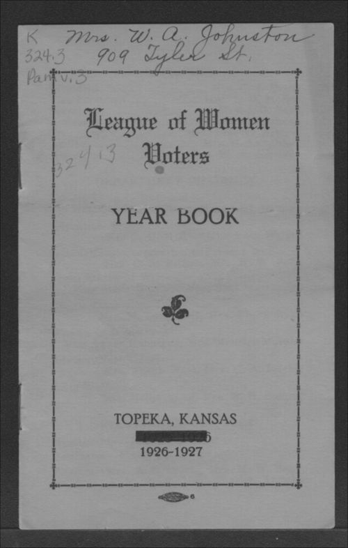 League of Women Voters year book - Page