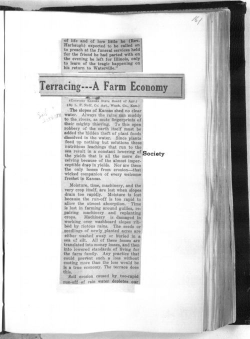 Terracing. A farm economy - Page