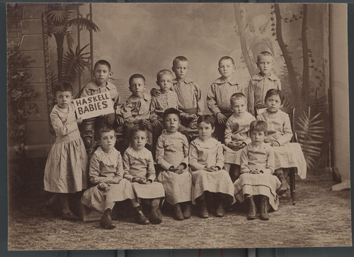 Young children, Haskell Institute, Lawrence, Kansas - Page