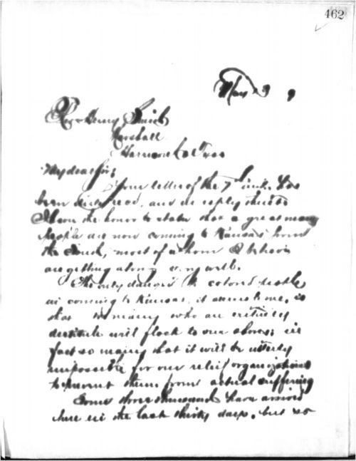 Governor John Pierce St. John to Rev. Henry Smith - Page