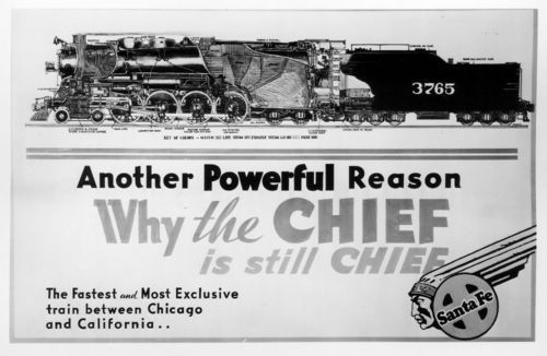 Atchsion, Topeka & Santa Fe Railway Company drawing of steam engine #3765 - Page