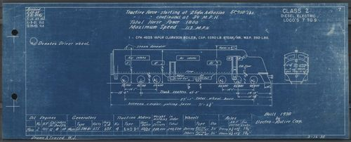 Engine diagram for locomotives 7 to 9 - Page