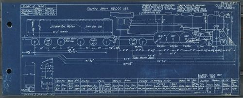 Engine diagram for steam locomotive #3751 - Page