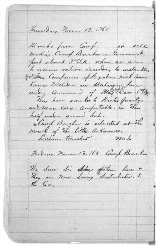 Memorandum of trip from Topeka, Kansas, to the Indian Country - Page