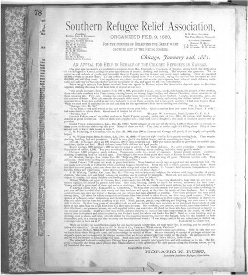 An appeal for help in behalf of the colored refugees in Kansas - Page