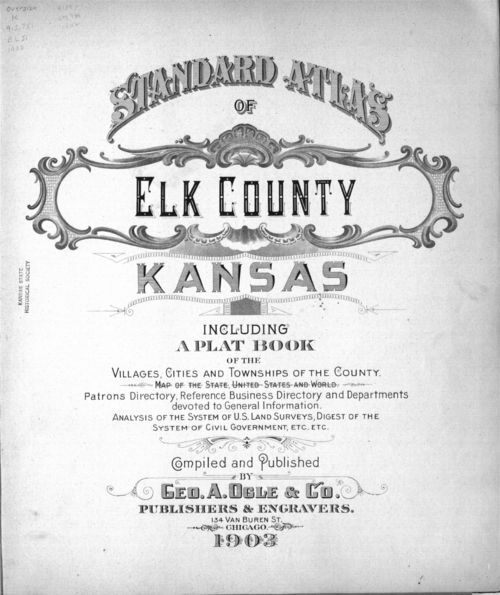 Standard atlas of Elk County, Kansas - Page