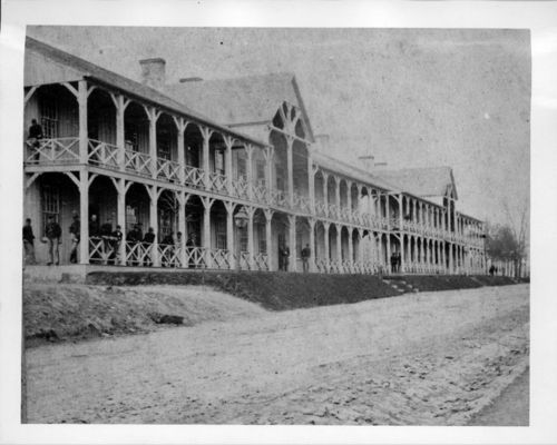 Enlisted men's barracks, Fort Leavenworth, Kansas - Page