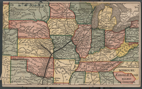 Map of the Missouri, Kansas & Texas Railway, and connections - Page