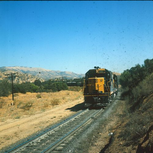 Atchison, Topeka & Santa Fe Railway freight train pulled by engine #1417 - Page