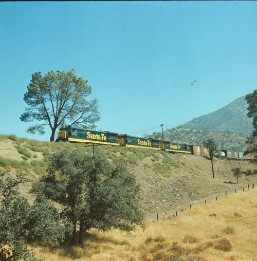Freight train near Tehachapi Loop, California, 1969 - Page