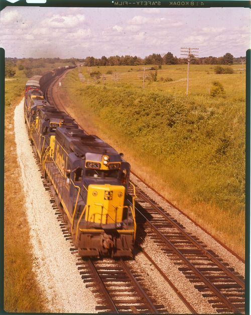 Atchison, Topeka & Santa Fe Railway freight train pulled by engine #1253 - Page