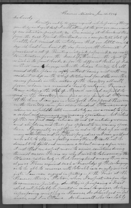 Jotham Meeker to Rev. Crosby - Page