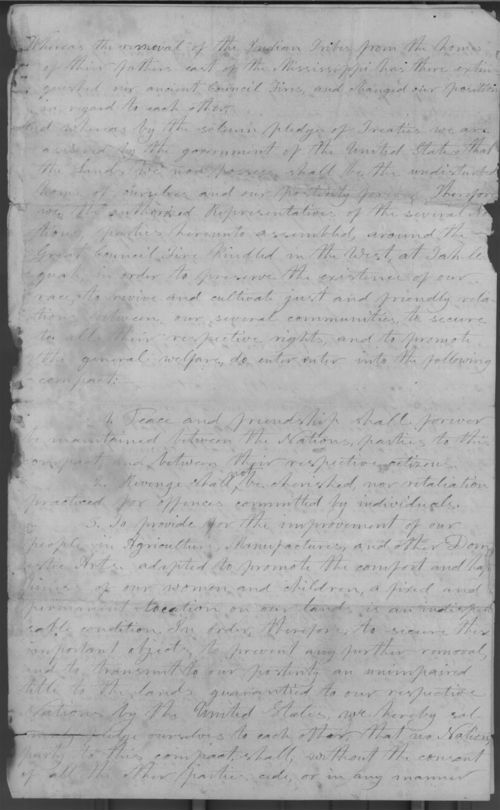 Tahlequah Compact and note signed by Ottawa chiefs - Page