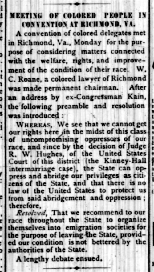 Meeting of colored people in convention at Richmond, Virginia - Page