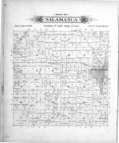 Plat book, Cherokee County, Kansas - Page