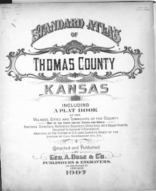 Standard atlas of Thomas County, Kansas - Page
