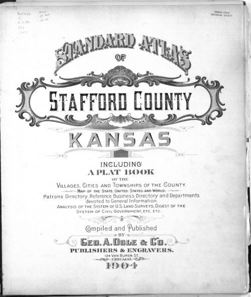 Standard atlas of Stafford County, Kansas - Page