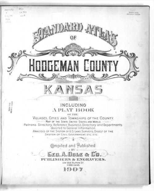 Standard atlas of Hodgeman County, Kansas - Page