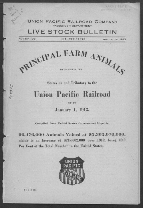 Union Pacific Railroad Company, Livestock Bulletin No. 108 - Page