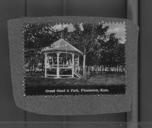 Pleasanton Bandstand, Pleasanton, Kansas - Page