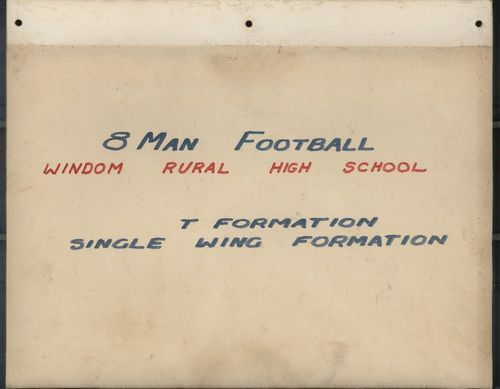 Windom Rural High School 8-man football play book - Page