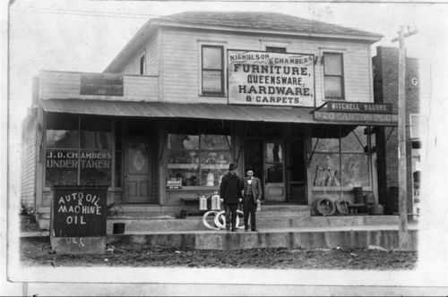 Nicholson & Chambers Furniture Store and J.D. Chambers Undertaker, De Soto, Kansas - Page