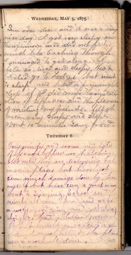 John William Gardiner diary - Page