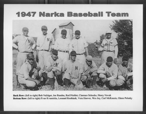 Image of baseball team, Narka, Republic County, 1947.