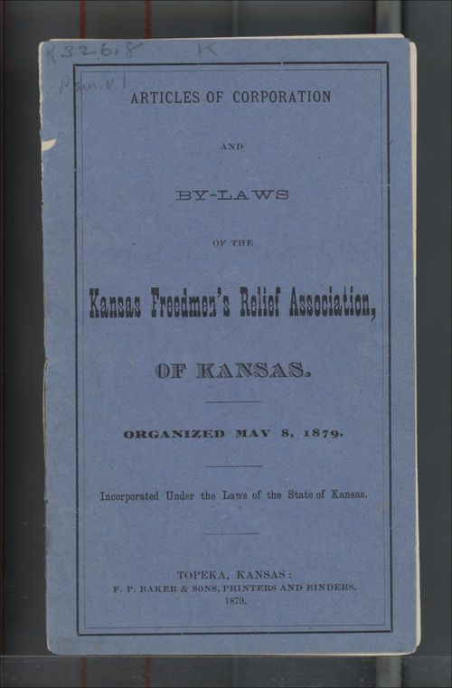 Articles of Corporation and By-Laws of the Kansas Freedmen's Relief Association - Page