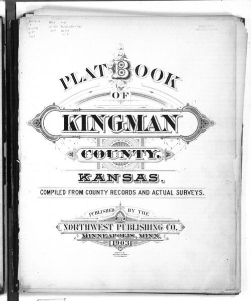 Image of title page of Plat Book of Kingman County, 1903