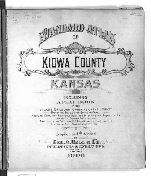 Standard atlas of Kiowa County, Kansas - Page