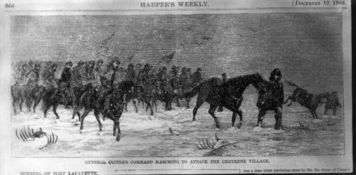 Marching to attack the Cheyenne village - Page