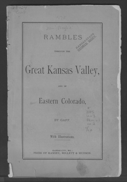 Rambles through the great Kansas valley, and in eastern Colorado - Page