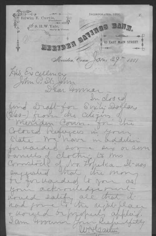 W. H. Caltin to John P. St. John - Page