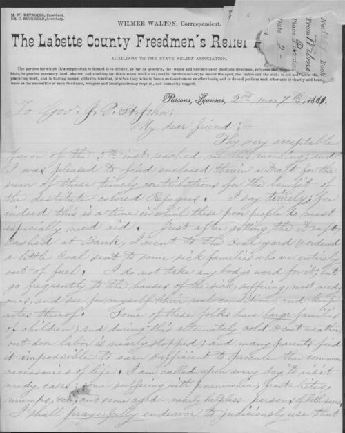 Wilmer Walton to John P. St. John - Page