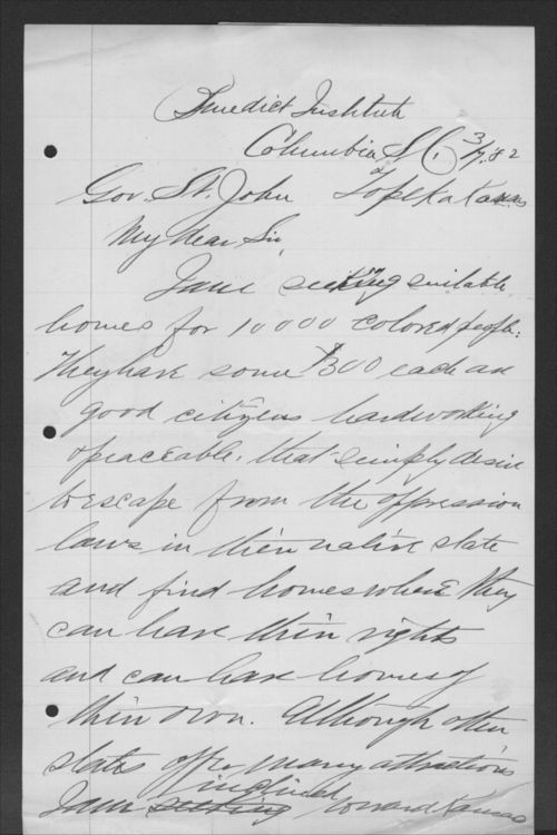 Samuel Baker to John P. St. John - Page