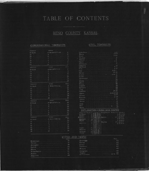 Plat book of Reno County, Kansas - Page
