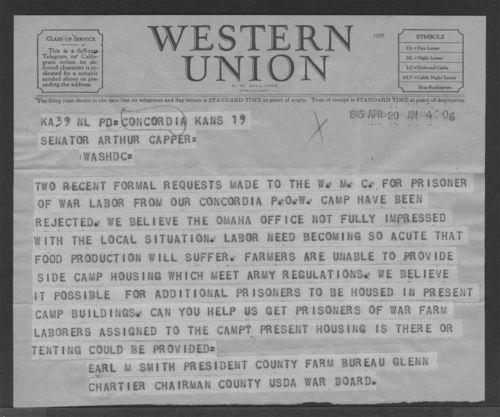 Earl M. Smith to Senator Arthur Capper - Page