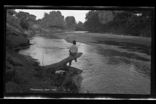 Boy fishing, Marysville, Kansas - Page