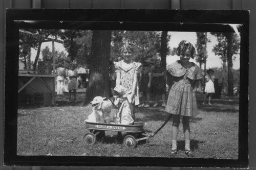 Girls with dogs, Marysville, Kansas - Page