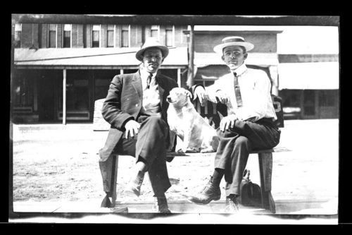 Two men and a dog, Marysville, Kansas - Page
