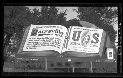 Road sign, Marysville, Kansas - Page