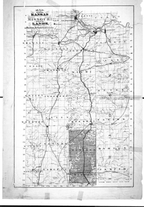 Map of Eastern Kansas & Border Counties in Missouri - Page